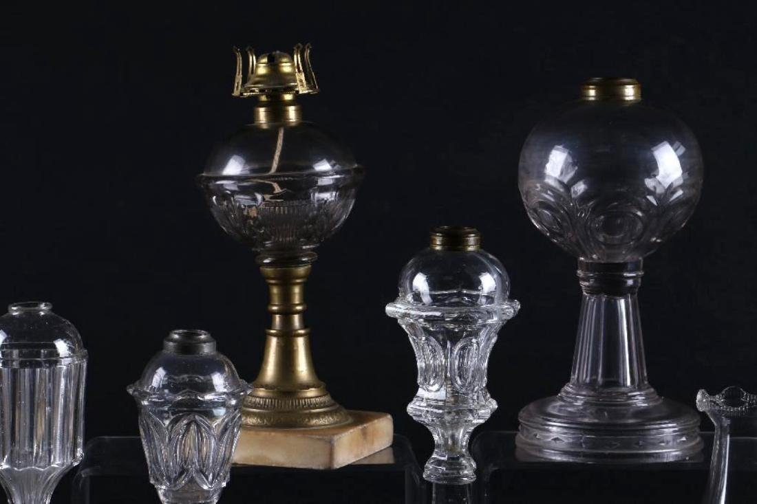 6 AMERICAN MOLDED GLASS FLUID LAMPS - 5