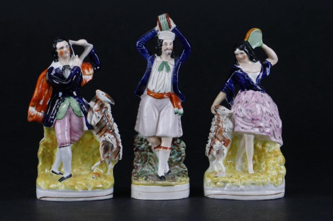3 STAFFORDSHIRE THEATRICAL FIGURES