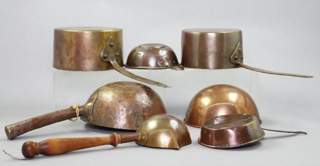 7 PIECES OF COPPER COOKWARE - 4