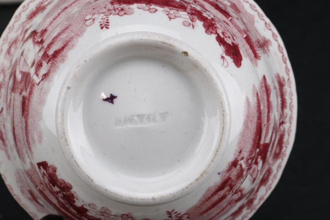 14 PIECES ENGLISH CERAMIC TABLEWARE PRINTED OR PAINTED - 6