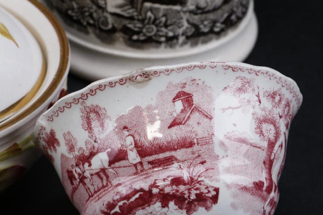14 PIECES ENGLISH CERAMIC TABLEWARE PRINTED OR PAINTED - 7