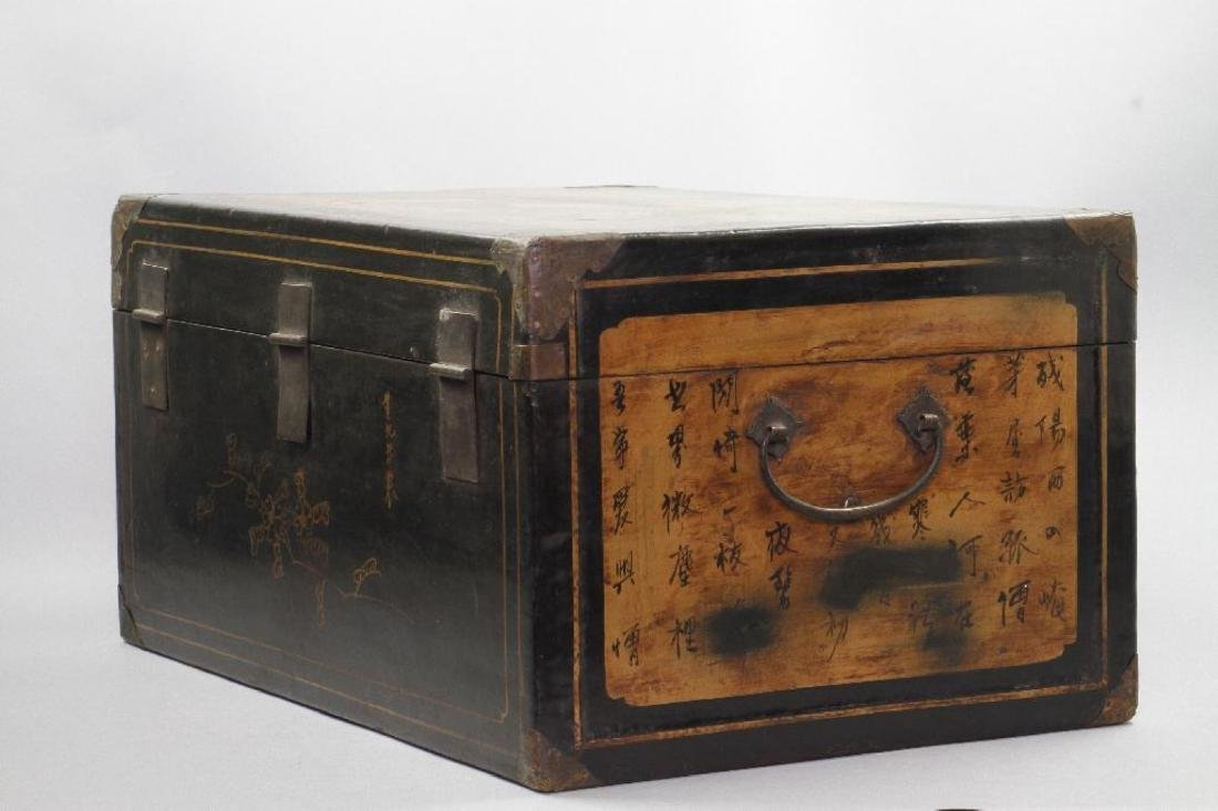CHINESE PAINTED & LACQUER DECORATED CASKET - 7