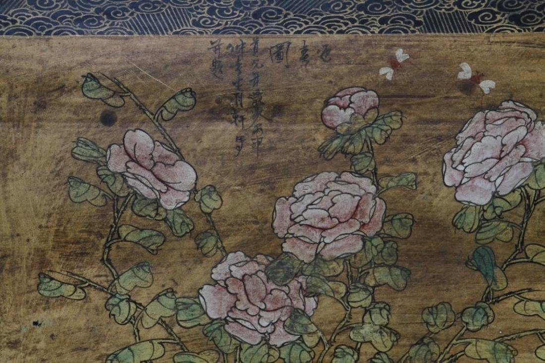 CHINESE PAINTED & LACQUER DECORATED CASKET - 9