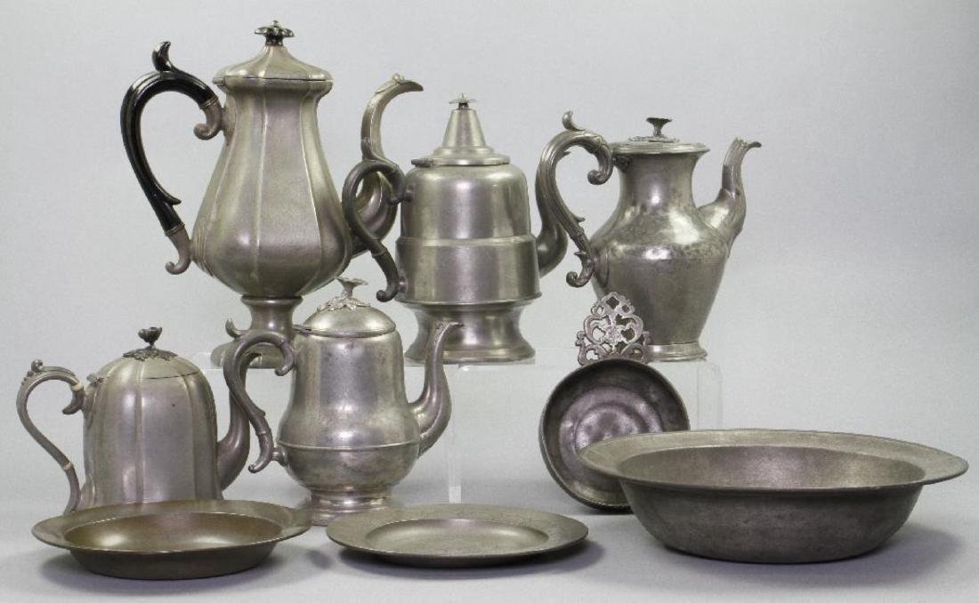 9 PIECES OF PEWTER