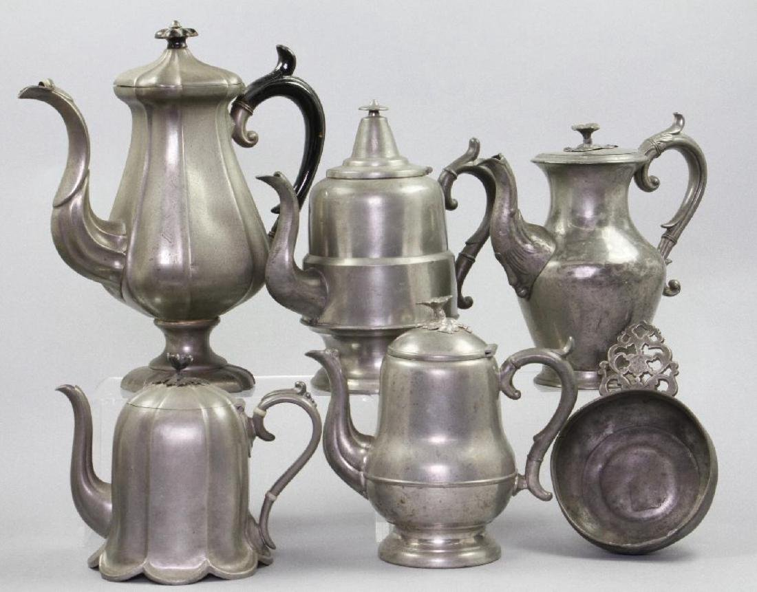 9 PIECES OF PEWTER - 3