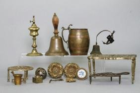 16 PIECES ENGLISH, AMERICAN & OTHER BRASS WARE