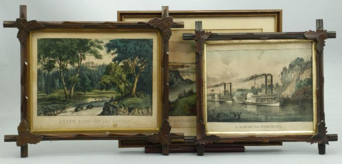 4 CURRIER & IVES HAND COLORED LITHOGRAPHS