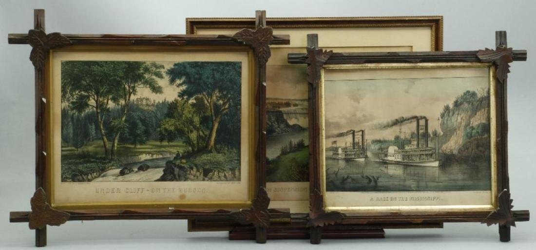 4 CURRIER & IVES HAND COLORED LITHOGRAPHS - 2
