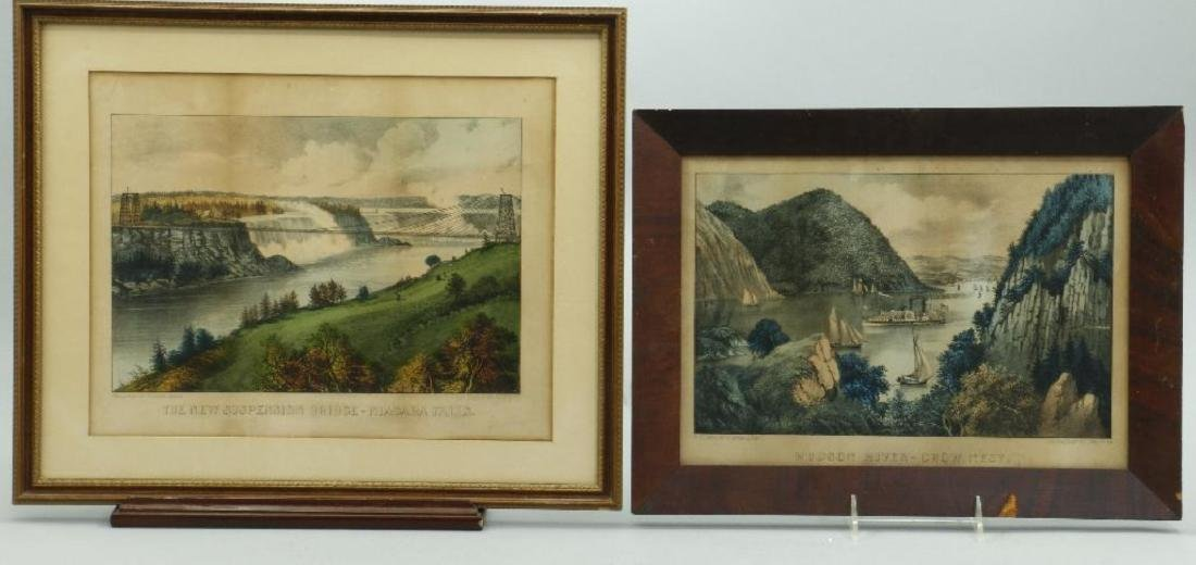 4 CURRIER & IVES HAND COLORED LITHOGRAPHS - 4