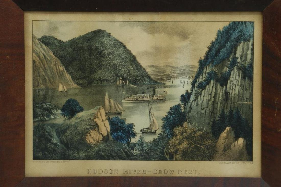 4 CURRIER & IVES HAND COLORED LITHOGRAPHS - 6