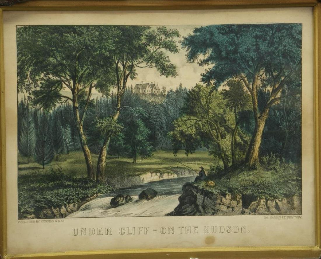 4 CURRIER & IVES HAND COLORED LITHOGRAPHS - 9
