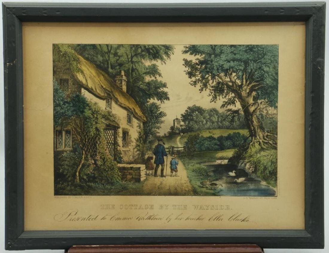 3 CURRIER & IVES HAND COLORED LITHOGRAPHS - 6