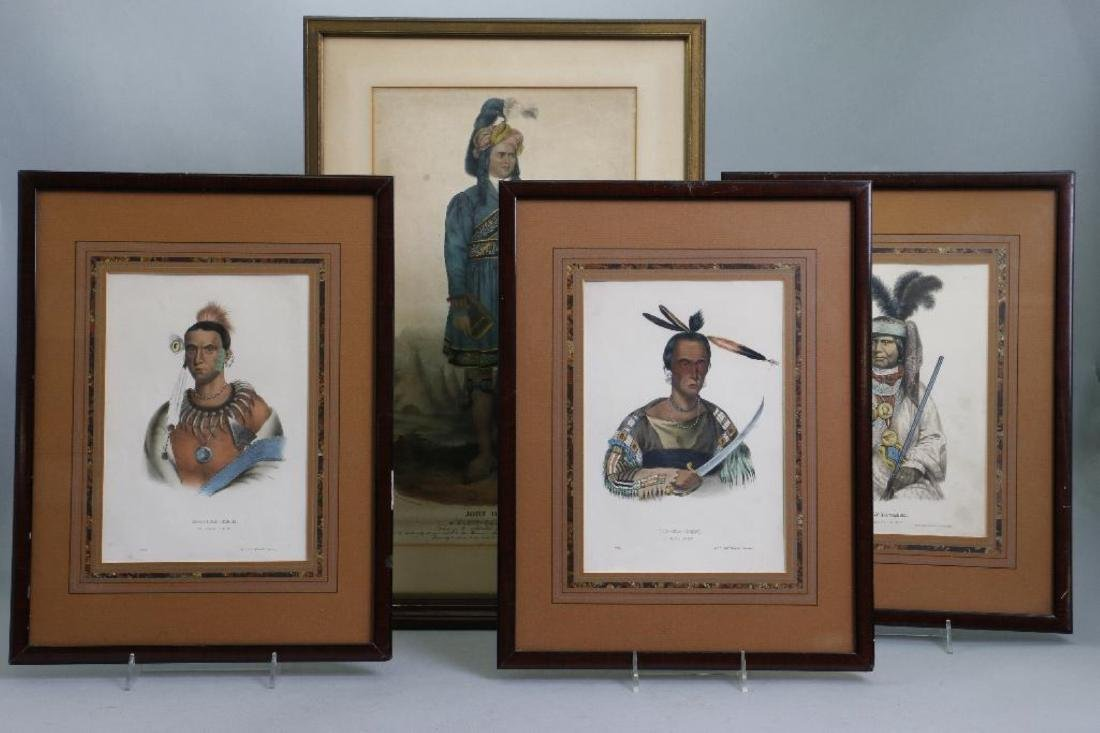 3 RICE RUTTER COLORED PRINTS NATIVE AMERICANS & 1 OTHER - 2