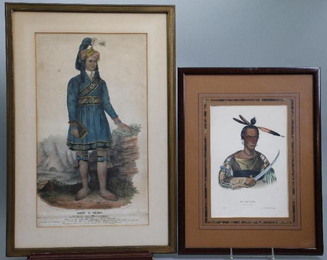 3 RICE RUTTER COLORED PRINTS NATIVE AMERICANS & 1 OTHER - 3