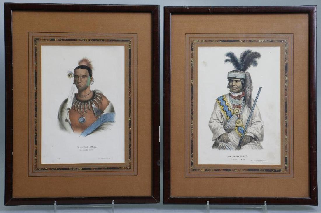 3 RICE RUTTER COLORED PRINTS NATIVE AMERICANS & 1 OTHER - 6