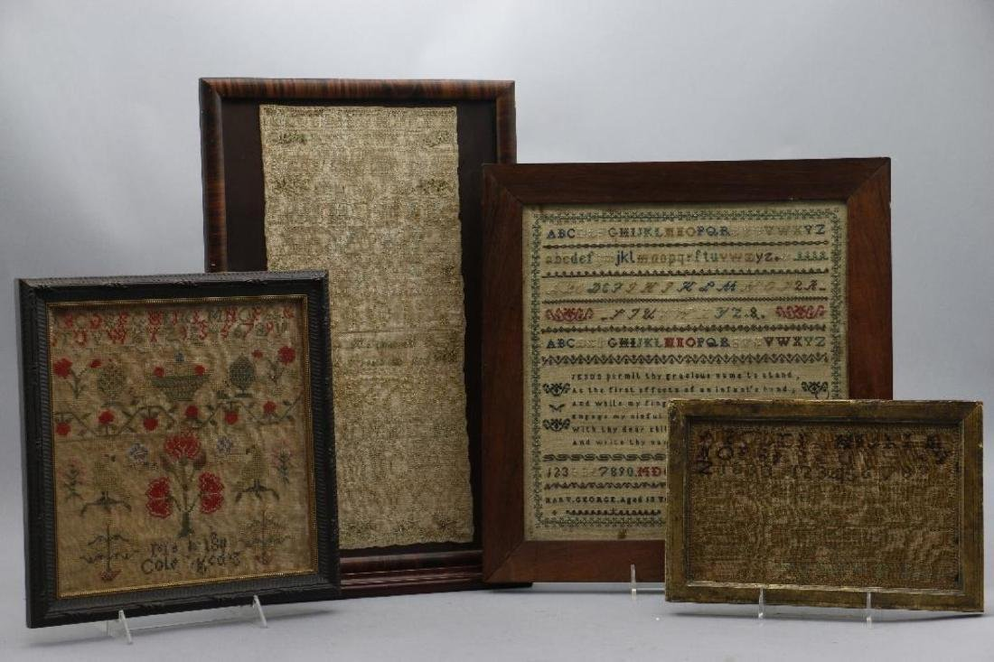 4 AMERICAN OR ENGLISH SAMPLERS 1759, 1810, 1811 OR 1856