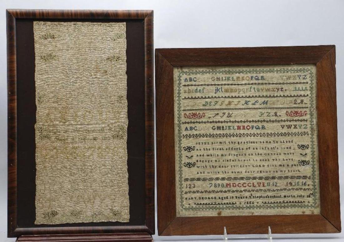4 AMERICAN OR ENGLISH SAMPLERS 1759, 1810, 1811 OR 1856 - 2