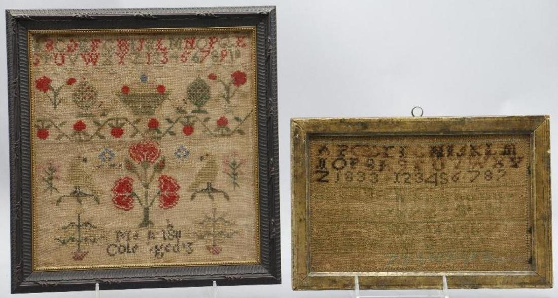 4 AMERICAN OR ENGLISH SAMPLERS 1759, 1810, 1811 OR 1856 - 4