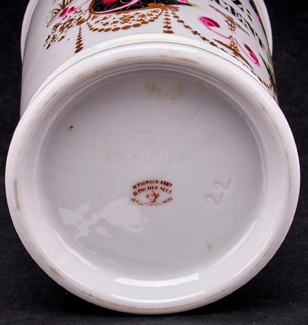 3 FRENCH PORCELAIN APOTHECARY JARS - 2