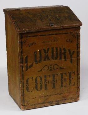 JAMES ALLEN STORE PAINTED PINE 100 LBS COFFEE BIN