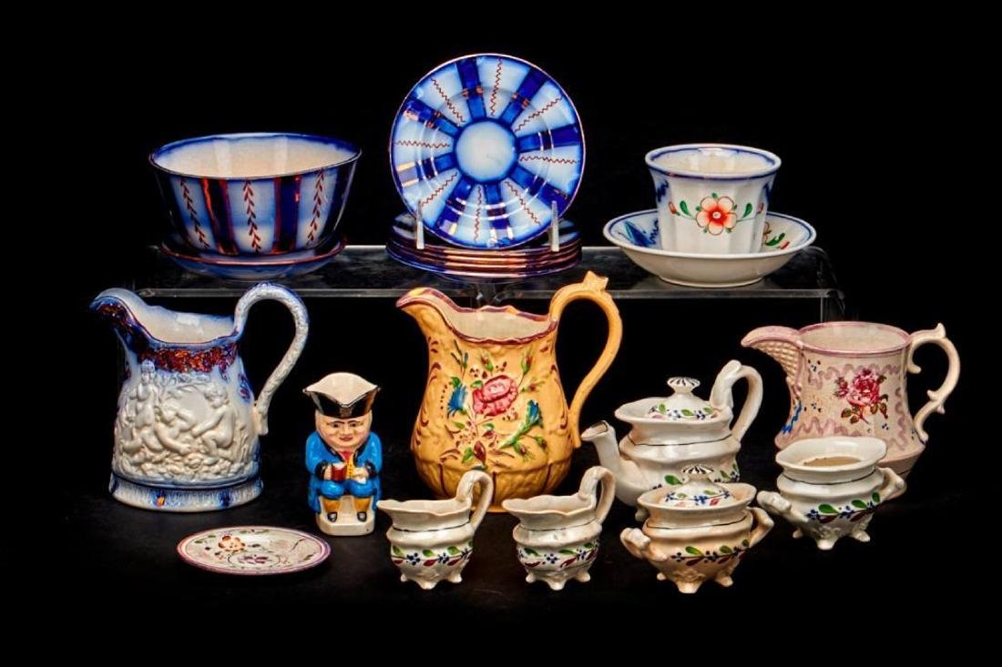 ASSEMBLED GROUP OF STAFFORDSHIRE