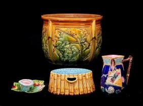 4 PIECES OF EUROPEAN MAJOLICA