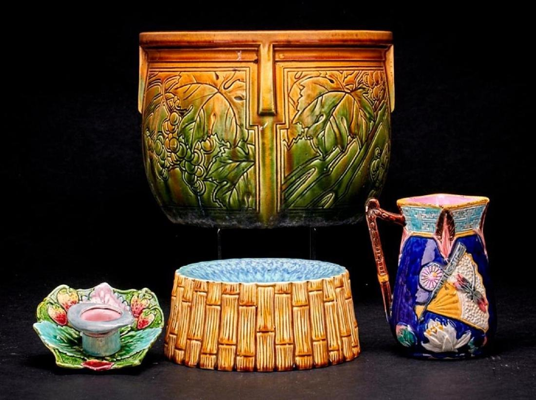 4 PIECES OF EUROPEAN MAJOLICA - 2