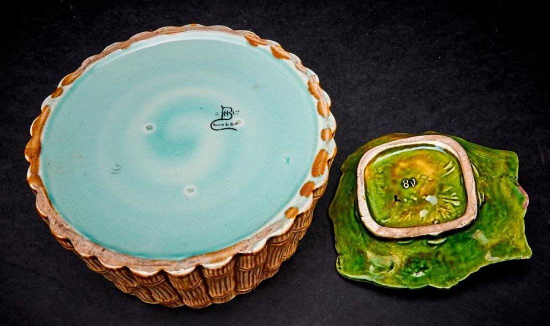 4 PIECES OF EUROPEAN MAJOLICA - 3