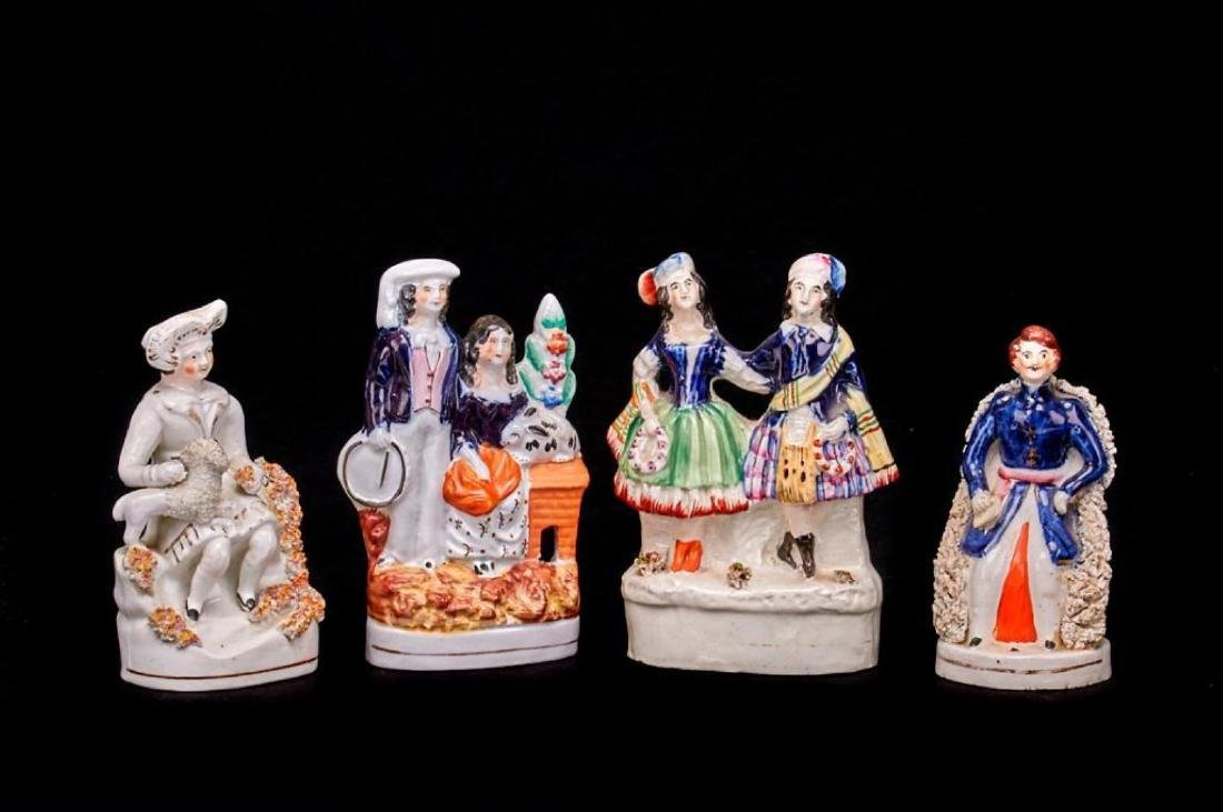 4 STAFFORDSHIRE FIGURES