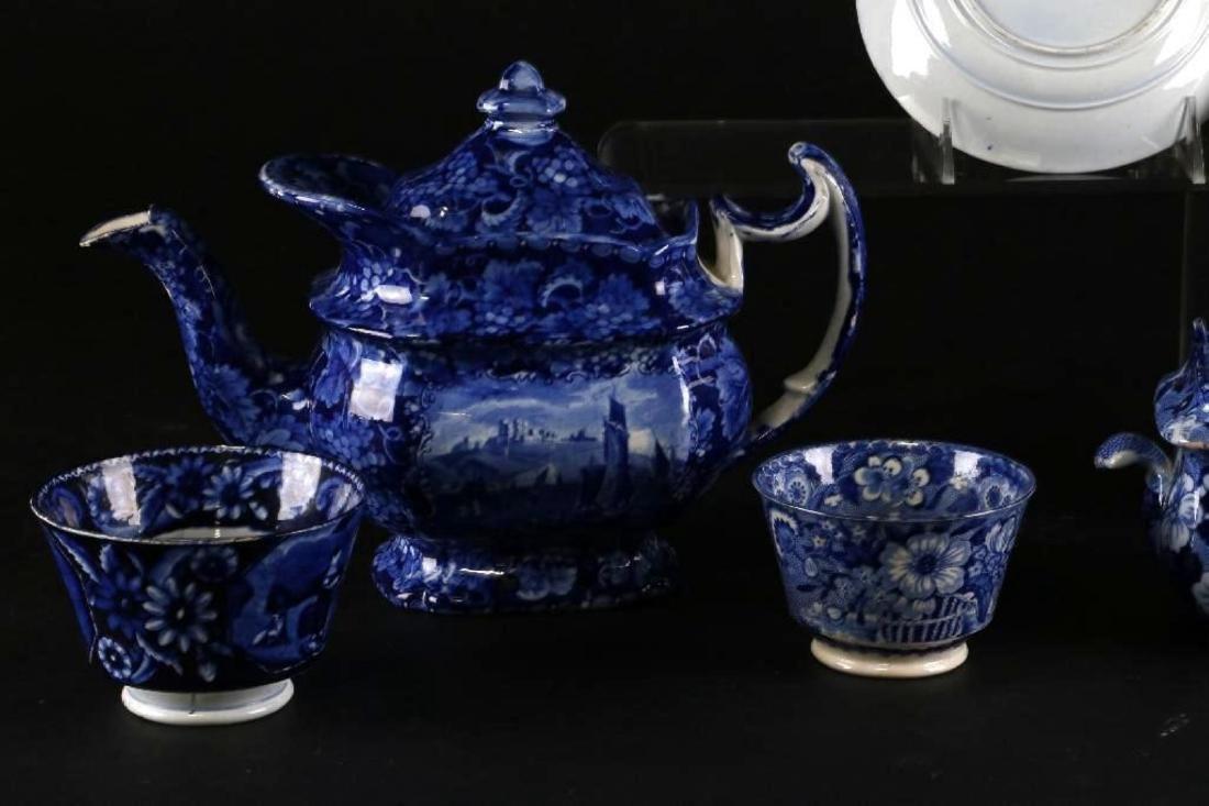 6 STAFFORDSHIRE BLUE & WHITE TRANSFER PRINTED TABLEWARE - 7