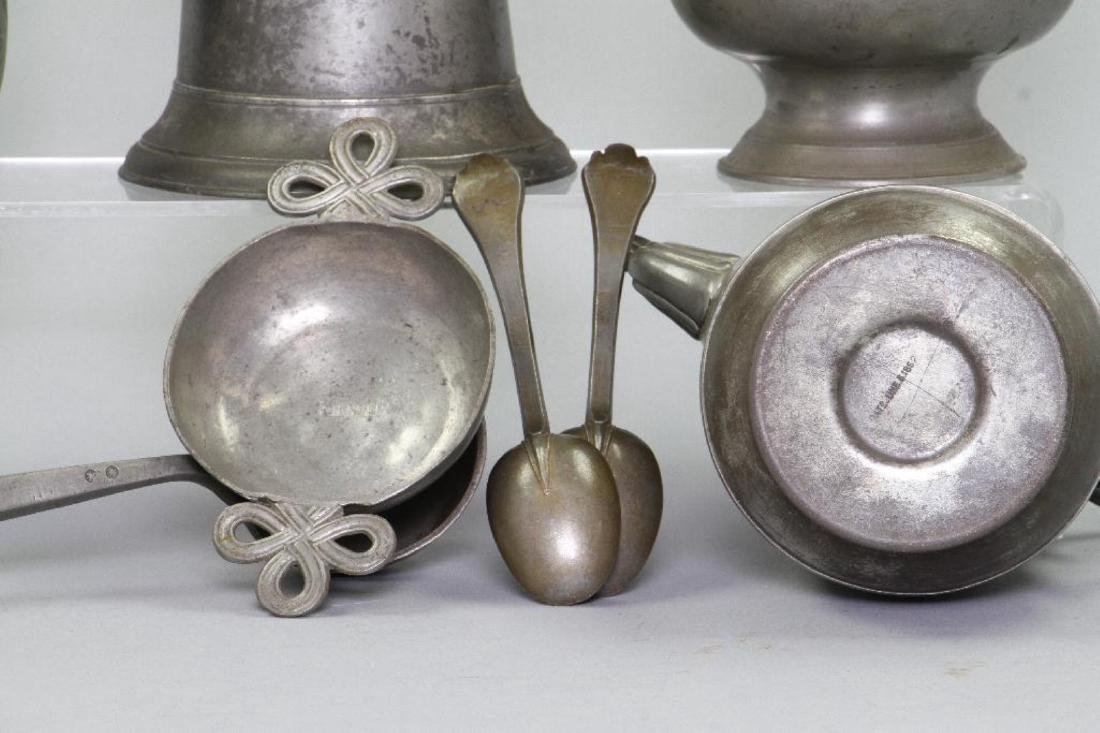 10 PIECES OF PEWTER - 6