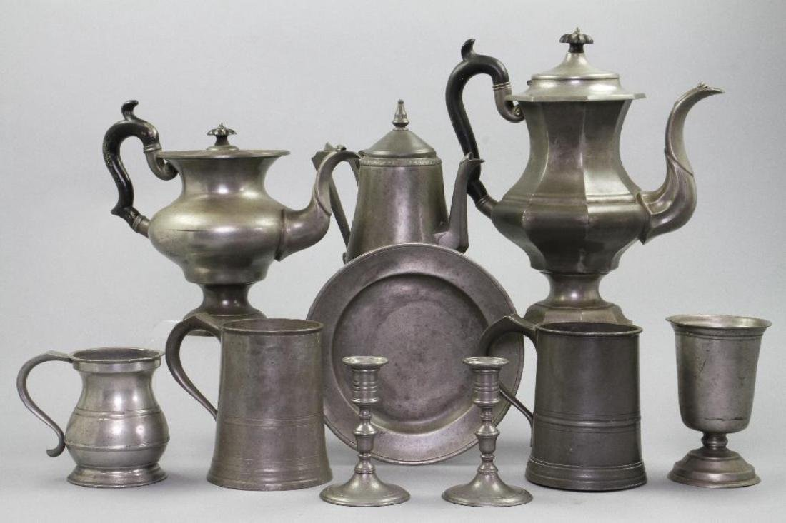10 PIECES OF PEWTER