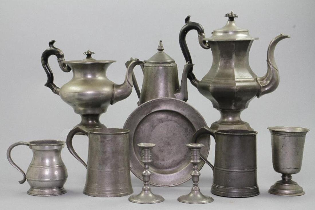 10 PIECES OF PEWTER - 2