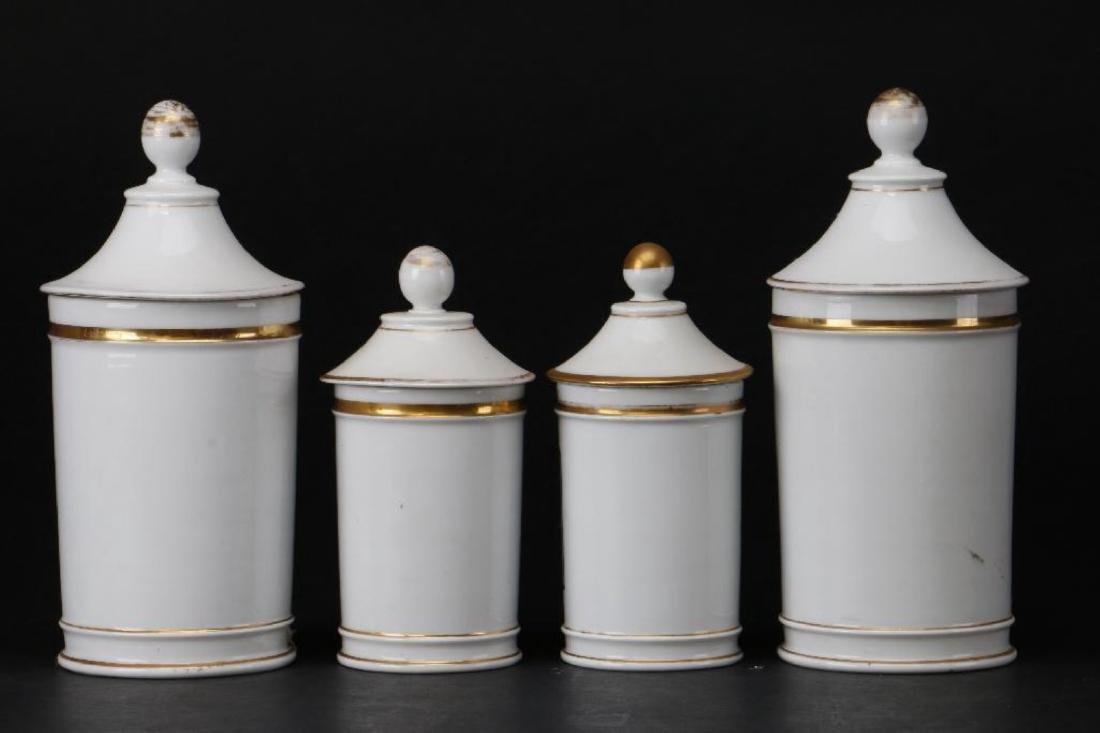 4 FRENCH PORCELAIN APOTHECARY JARS - 2