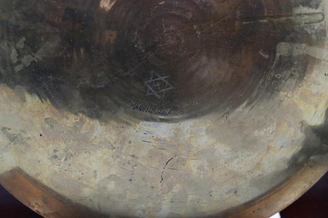 SOUTH EAST ASIAN CAST BRASS BOX & CHINESE BRASS PLATE - 8