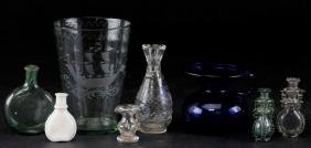 8 PIECES AMERICAN & EUROPEAN GLASS