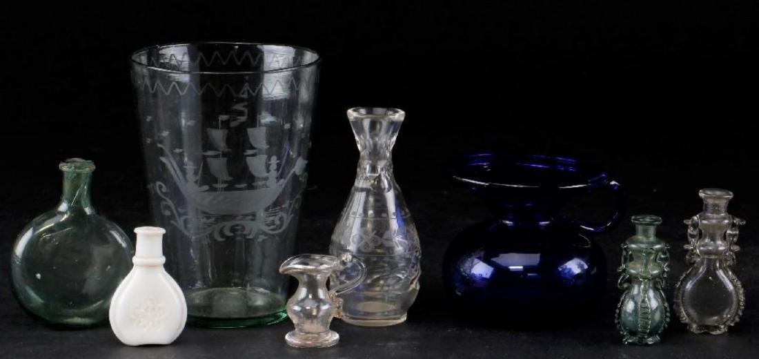 8 PIECES AMERICAN & EUROPEAN GLASS