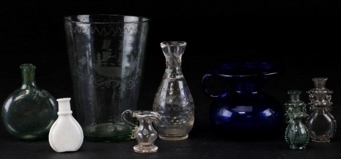 8 PIECES AMERICAN & EUROPEAN GLASS - 2