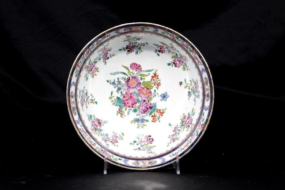 FRENCH CHINESE EXPORT STYLE ARMORIAL PORCELAIN BOWL - 2
