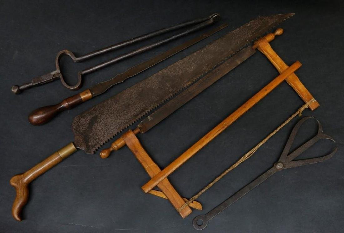 2 SAWS & 3 OTHER VINTAGE TOOLS