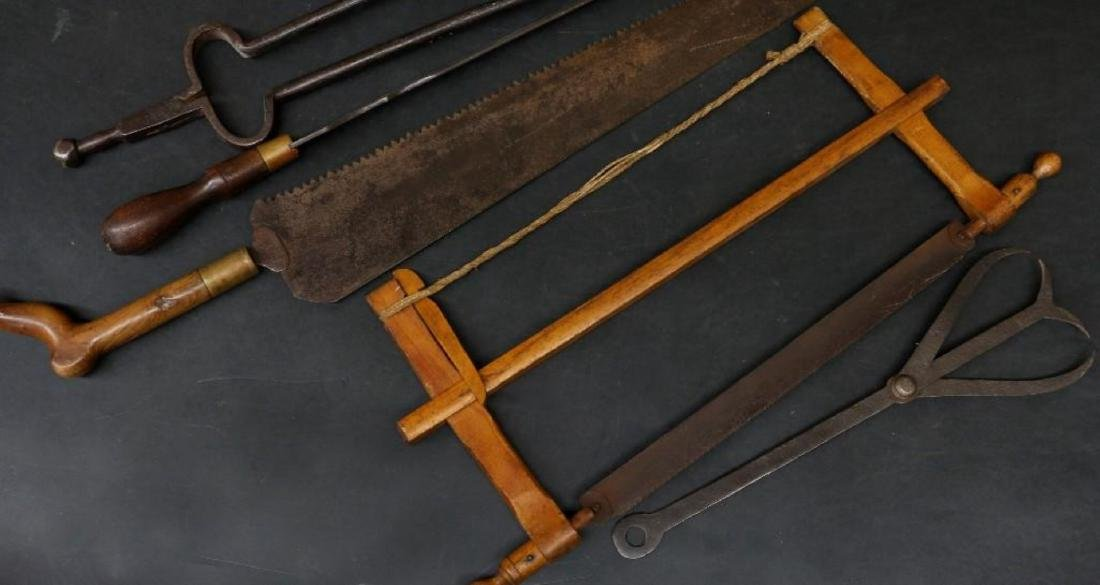 2 SAWS & 3 OTHER VINTAGE TOOLS - 2
