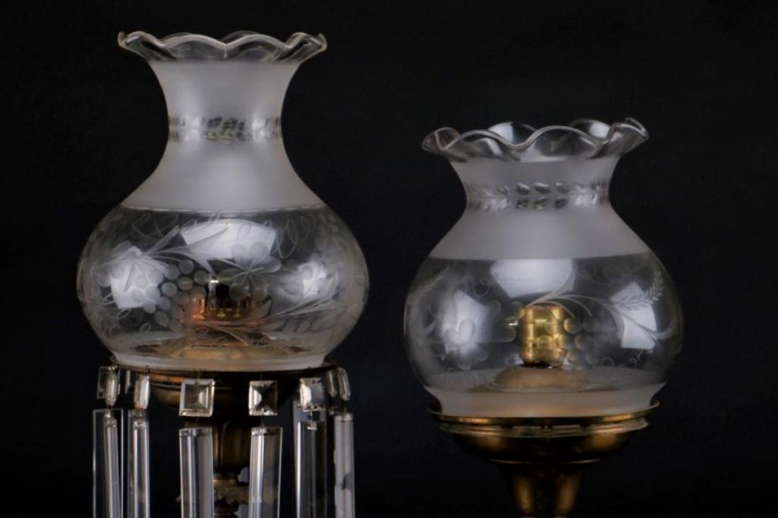 2 AMERICAN BRASS & MARBLE SOLAR LAMPS - 2