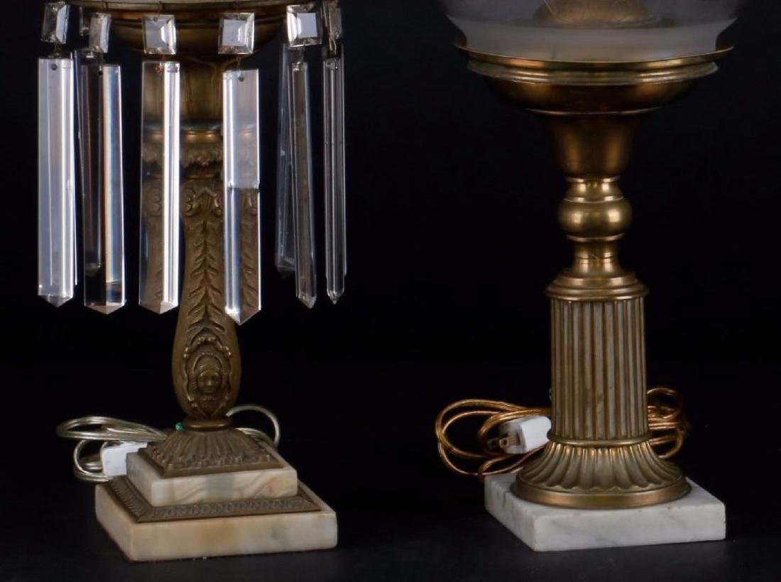 2 AMERICAN BRASS & MARBLE SOLAR LAMPS - 3