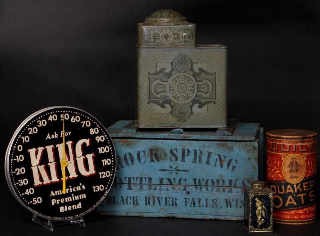 5 ADVERTISING COLLECTABLES