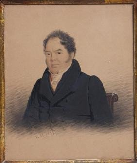 PORTRAIT MR. BURDEN OF WORCESTER, E. HARCOURT 1827