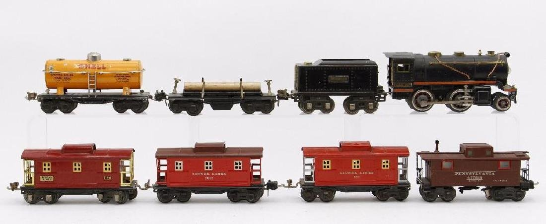 Lionel 0 Gauge Locomotive and Freight Car Grouping