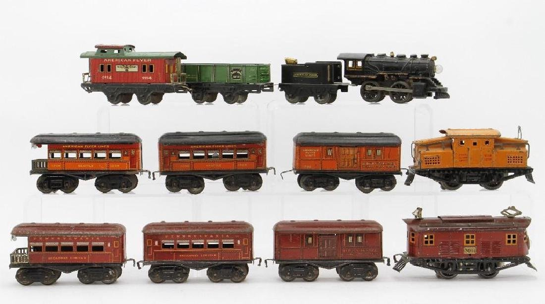 American Flyer 0 Gauge Passenger and Freight Set Group