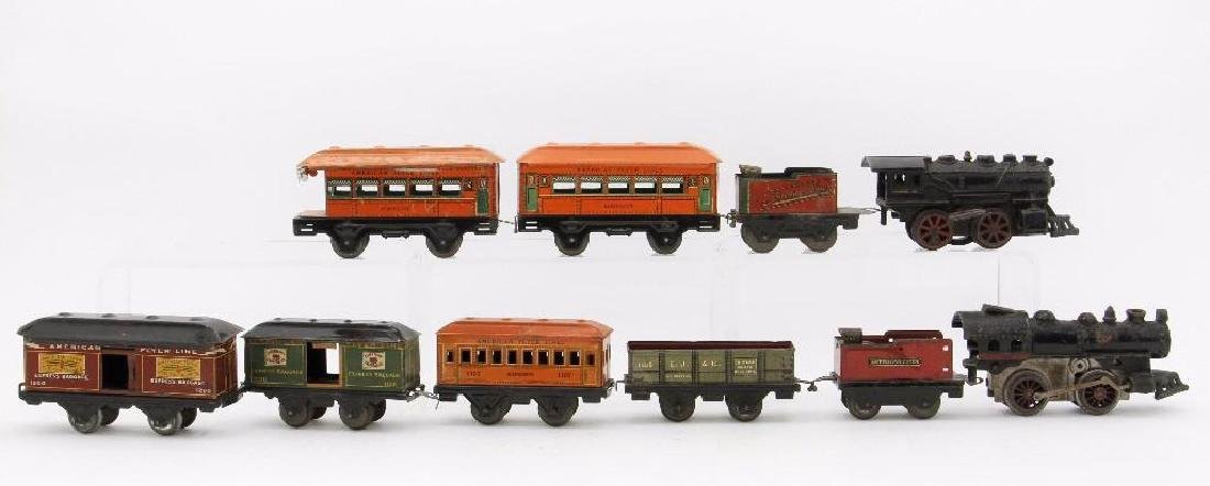 American Flyer  Gauge Mixed Locomotive and Car Grouping