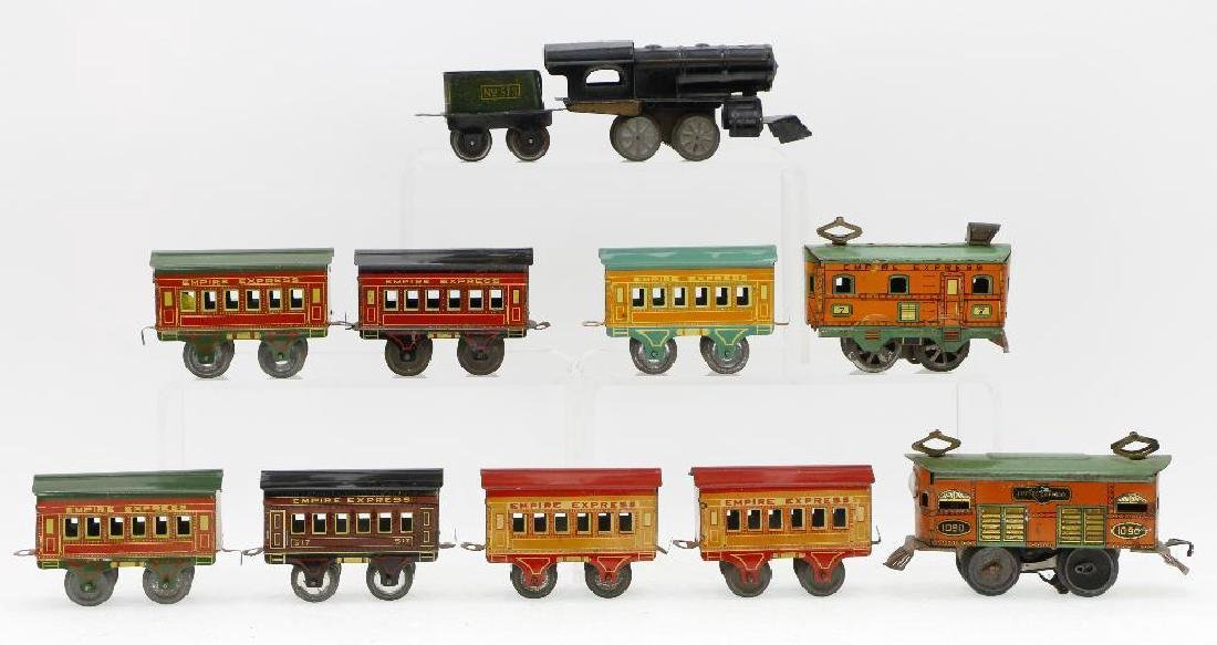 American Flyer 0 Gauge Empire Express Loco/Car Grouping