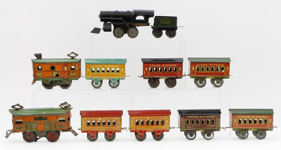 American Flyer 0 Gauge Empire Express Loco/Car Grouping - 2